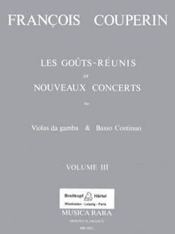 François Couperin - Reunited Tastes or New Concerts - Volume 3 - Sheet Music - di-arezzo.co.uk