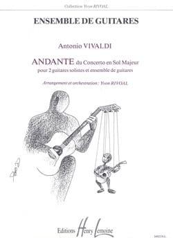 Antonio Vivaldi - Andante du Concerto en sol majeur - Partition - di-arezzo.fr