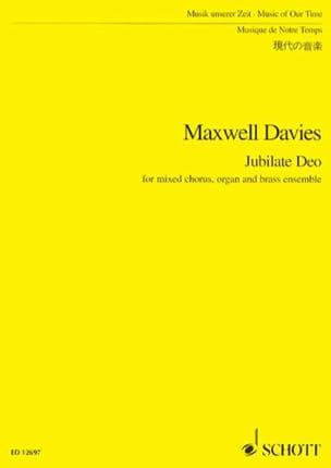 Davies Peter Maxwell - Jubilate Deo - Score - Partition - di-arezzo.fr