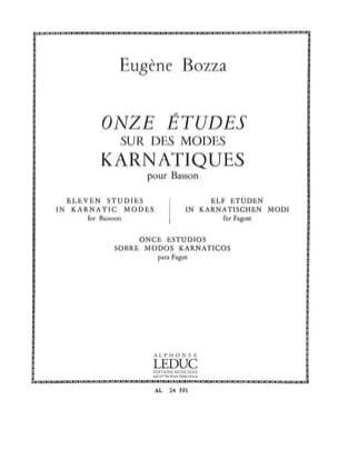 Eugène Bozza - 11 Studies on karnatic modes - Sheet Music - di-arezzo.com