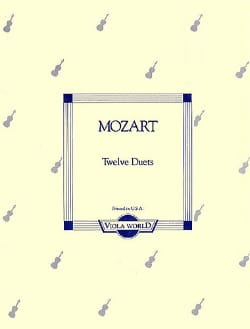 Wolfgang Amadeus Mozart - 12 Duets KV 487 - Partition - di-arezzo.fr