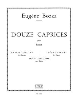 Eugène Bozza - 12 Caprices - Sheet Music - di-arezzo.com