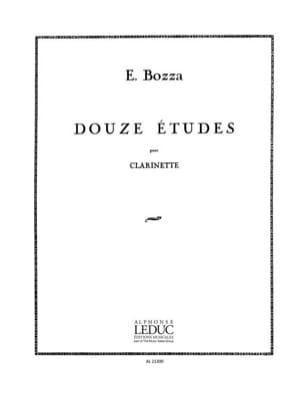 Eugène Bozza - 12 Etudes - Clarinette - Partition - di-arezzo.fr
