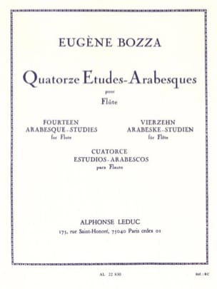 14 Etudes-Arabesques Eugène Bozza Partition laflutedepan