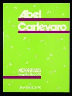 Microestudios n° 6-10 Abel Carlevaro Partition Guitare - laflutedepan