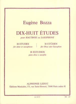 Eugène Bozza - 18 Etudes - Oboe or saxophone - Sheet Music - di-arezzo.co.uk