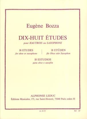18 Etudes - Hautbois ou saxophone Eugène Bozza Partition laflutedepan