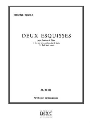 2 Esquisses Eugène Bozza Partition Flûte traversière - laflutedepan