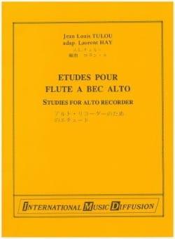 Etudes pour flûte à bec alto - Jean-Louis Tulou - laflutedepan.com