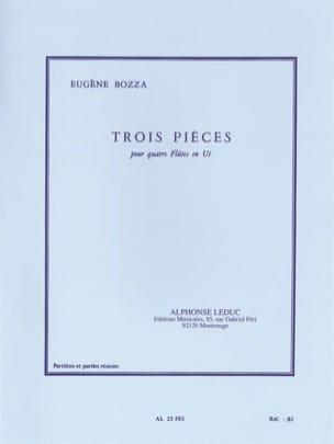 3 Pièces - 4 Flûtes en ut Eugène Bozza Partition laflutedepan