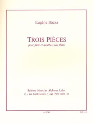 Eugène Bozza - 3 Pieces - Flute and Oboe - Sheet Music - di-arezzo.co.uk
