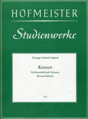 Giuseppe Antonio Capuzzi - Konzert - Kontrabass - Partition - di-arezzo.fr