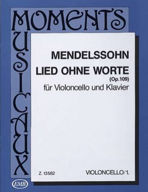 MENDELSSOHN - Lied ohne Worte op. 109 - Sheet Music - di-arezzo.co.uk