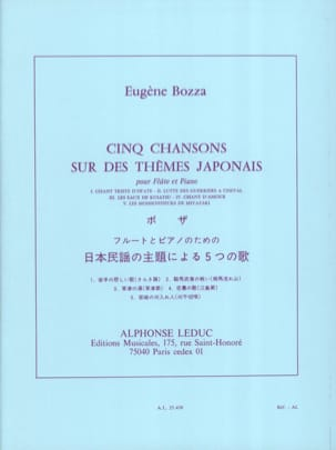 Eugène Bozza - 5 Songs on Japanese themes - Sheet Music - di-arezzo.com