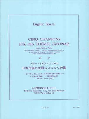 5 Chansons sur des thèmes japonais Eugène Bozza laflutedepan