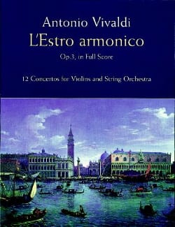 L' Estro Armonico Opus 3 VIVALDI Partition Grand format - laflutedepan
