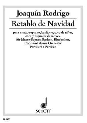 Retablo de Navidad – Partitur - Joaquín Rodrigo - laflutedepan.com