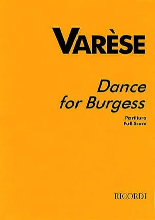Edgard Varèse - Dance for Burgess - Partitur - Sheet Music - di-arezzo.co.uk