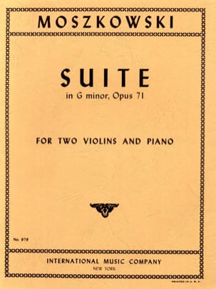 Suite in G minor op. 71 Maurice Moszkowski Partition laflutedepan