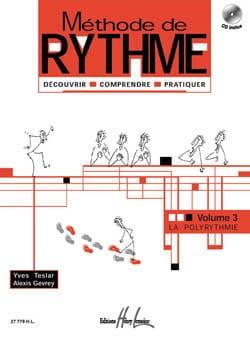 Teslar Yves / Gevrey Alexis - Méthode de rythme – Volume 3 - Partition - di-arezzo.fr