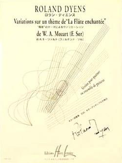 Variations sur un thème de La Flûte enchantée de W. A. Mozart F. Sor - laflutedepan.com