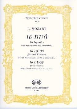 16 Duos pour violons Leopold Mozart Partition Violon - laflutedepan