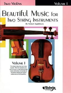 Beautiful Music for 2 Violins - Volume 1 - laflutedepan.com