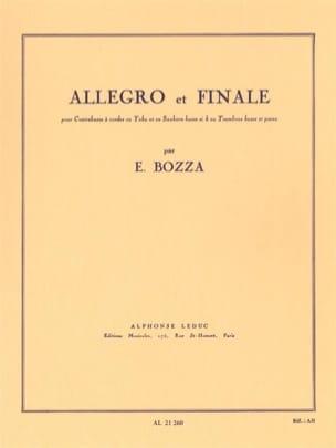 Eugène Bozza - Allegro and Finale - Sheet Music - di-arezzo.com