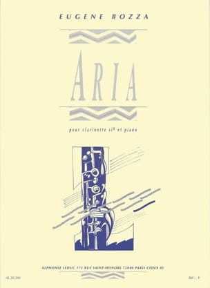 Eugène Bozza - Aria - Clarinet - Sheet Music - di-arezzo.co.uk