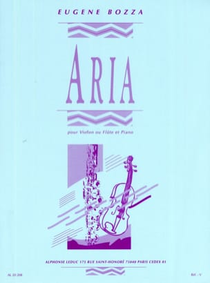 Eugène Bozza - Aria – Violon ou flûte - Partition - di-arezzo.fr