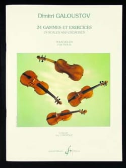 Dimitri Galoustov - 24 Gammes et Exercices - Partition - di-arezzo.fr