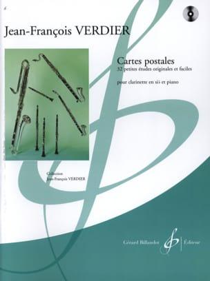Jean-François Verdier - Cartes Postales - Partition - di-arezzo.fr