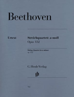 BEETHOVEN - String Quartet in A minor op. 132 - Sheet Music - di-arezzo.co.uk