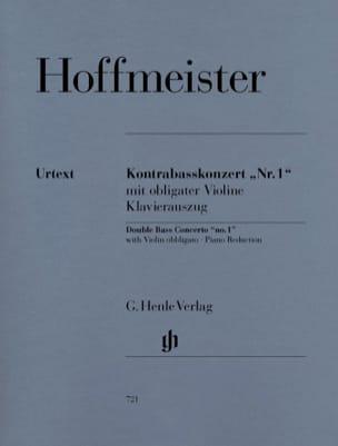 Franz Anton Hoffmeister - Kontrabass-Konzert n° 1 - Partition - di-arezzo.fr