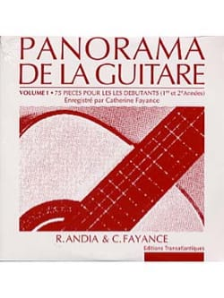 Andia Rafael / Fayance Catherine - CD of the Panorama of the Guitar - Volume 1 - Partitura - di-arezzo.it