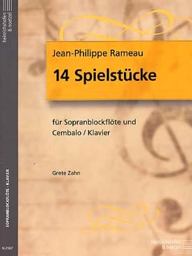 Jean-Philippe Rameau - 14 Spielstücke – Sopranblockflöte u. Cemb. - Partition - di-arezzo.fr