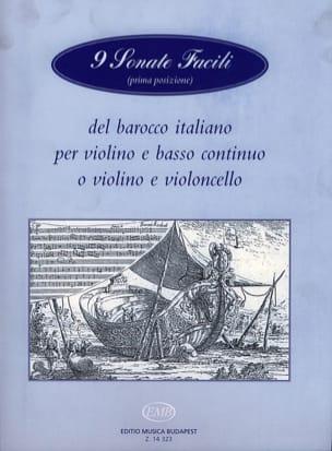 9 Sonate facili del baroco italiano - Violon - laflutedepan.com