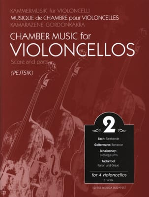 Arpad Pejtsik - Chamber music for violoncellos – Volume 2 - Score + Parts - Partition - di-arezzo.fr