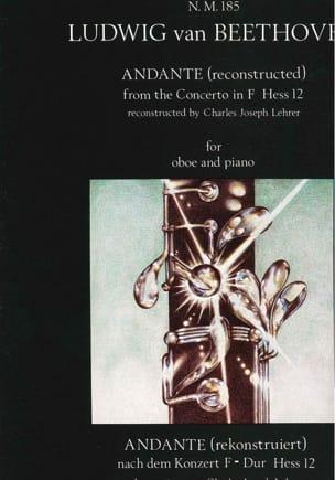 BEETHOVEN - Andante from the Concerto en Fa - Partition - di-arezzo.fr