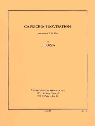 Eugène Bozza - Improvisation-Caprice - Partition - di-arezzo.co.uk