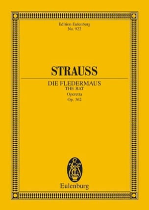 Die Fledermaus - Conducteur - Johann (Fils) Strauss - laflutedepan.com