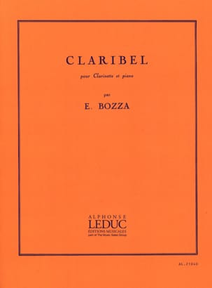 Claribel Eugène Bozza Partition Clarinette - laflutedepan
