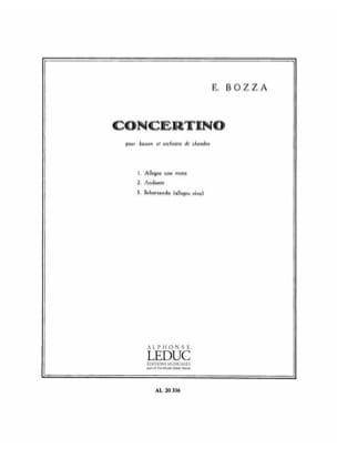 Eugène Bozza - Concertino op. 49 - Partition - di-arezzo.com