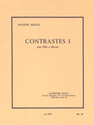 Eugène Bozza - Contrastes 1 - Flûte et basson - Partition - di-arezzo.fr