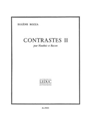 Eugène Bozza - Contrastes 2 – Hautbois et basson - Partition - di-arezzo.fr