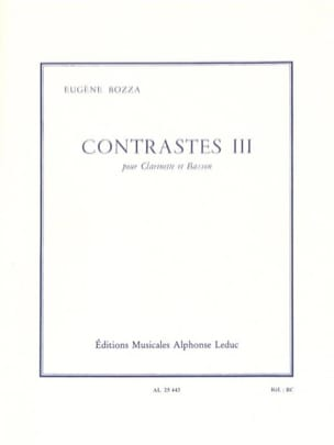 Eugène Bozza - Contrastes 3 - Partition - di-arezzo.fr
