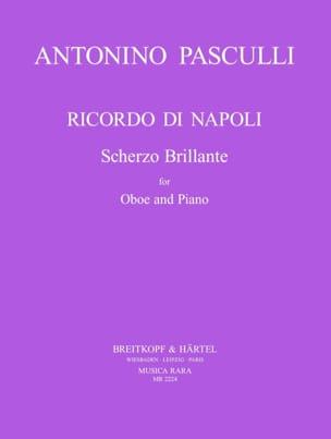 Antonino Pasculli - Ricordo di Napoli - Partition - di-arezzo.fr