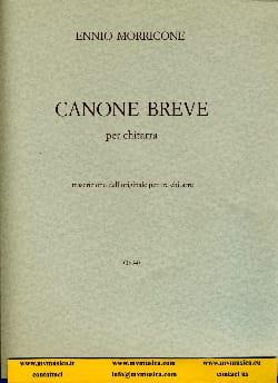 Canone breve - Ennio Morricone - Partition - laflutedepan.com