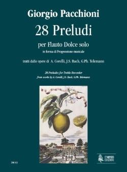 28 Preludi - Flauto dolce solo - Giorgio Pacchioni - laflutedepan.com