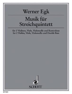 Musik für Streichquintett -Partitur + Stimmen Werner Egk laflutedepan